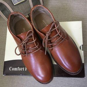 Deer Stags Ballard cognac dress shoes